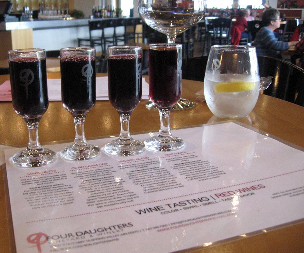 Red Wine Four Daughters Vineyard